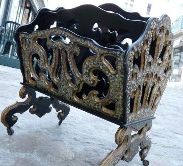Art & Antiques - Porte-revues-Art & Antiques-Porte revue Napoléon III