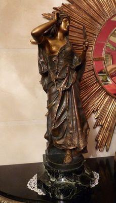 Art & Antiques - Sculpture-Art & Antiques-Bronze orientaliste estampillé Quénard.