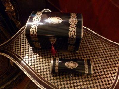 Art & Antiques - Coffret à bijoux-Art & Antiques-Coffrets estampillés Tahan XIXe