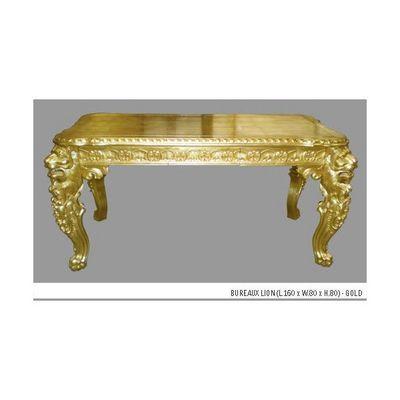 DECO PRIVE - Bureau-DECO PRIVE-Bureau en bois dore modele Lion Deco Prive