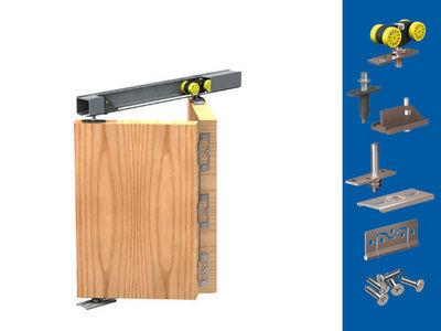 Wimove - Motorisation pour porte d'intérieur-Wimove-Garniture sans rail pour 2 portes HERKULES PLUS