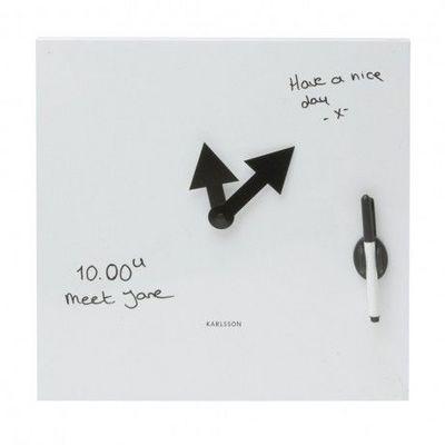 Karlsson Clocks - Horloge de cuisine-Karlsson Clocks-Karlsson - Horloge Tableau Blanc - Karlsson - Blan