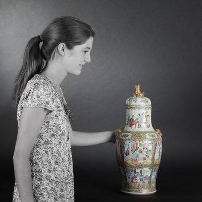 Expertissim - Vase couvert-Expertissim-CANTON. Paire de vases couverts