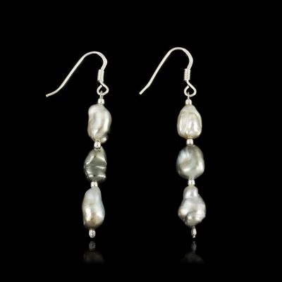 Expertissim - Boucles d'oreilles-Expertissim-Paire de boucles d'oreilles, perles de Tahiti et