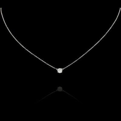 Expertissim - Pendentif-Expertissim-Chaîne en or et diamant, env. 0.4 carat