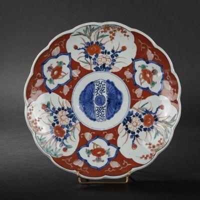 Expertissim - Assiette décorative-Expertissim-Coupe ronde et deux assiettes. Japon, XIXe siècle