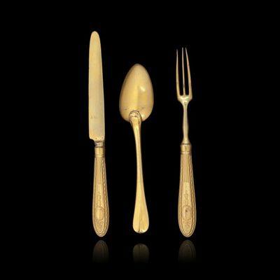 Expertissim - Couverts de table-Expertissim-Couvert et couteau en pomponne, fin de l'époque L