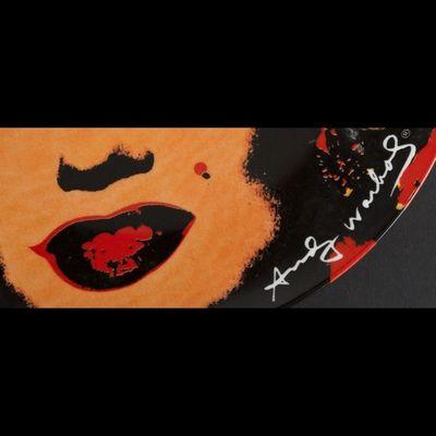 Expertissim - Assiette plate-Expertissim-D'après Andy Warhol, Assiette décorative Marilyn