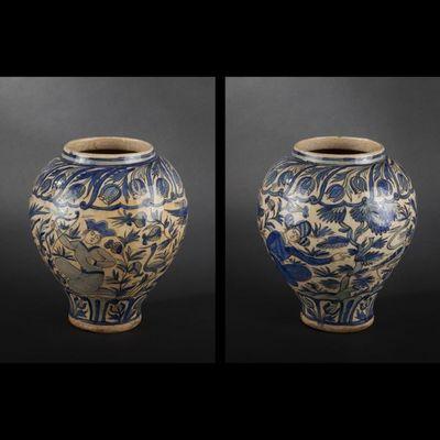 Expertissim - Vase à fleurs-Expertissim-Vase en céramique siliceuse. Iran, de style Qâjâr
