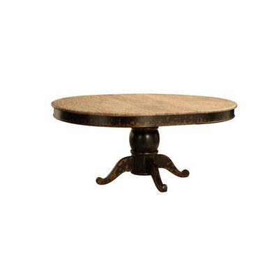DECO PRIVE - Table de repas ronde-DECO PRIVE-Table de salle a manger ronde a rallonge en bois n