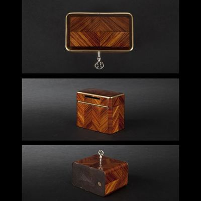 Expertissim - Tirelire-Expertissim-Petite boîte tirelire marquetée. Epoque Napoléon I