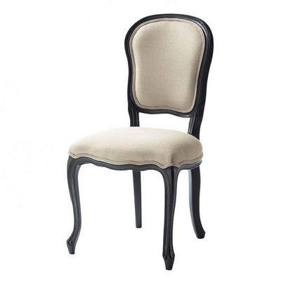 Maisons du monde - Chaise-Maisons du monde-Chaise lin Versailles