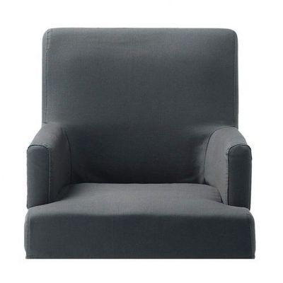 Maisons du monde - Housse de fauteuil-Maisons du monde-Housse ardoise fauteuil de bar Lounge