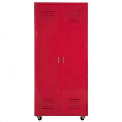 Maisons du monde - Armoire à portes battantes-Maisons du monde-Dressing rouge Loft