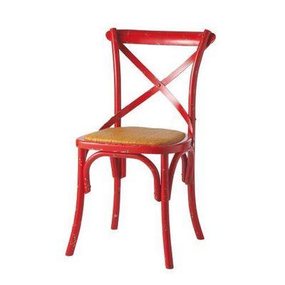 Maisons du monde - Chaise-Maisons du monde-Chaise rouge Traditio