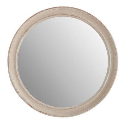Maisons du monde - Miroir-Maisons du monde-Miroir Elianne rond beige
