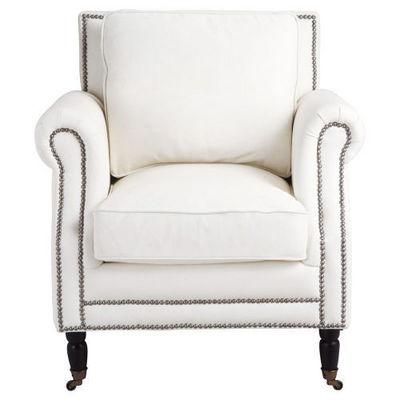 Fauteuil Cuir Blanc Dandy Fauteuil Maisons Du Monde - Fauteuil cuir blanc