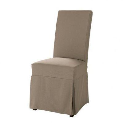 Maisons du monde - Housse de chaise-Maisons du monde-Housse taupe Margaux