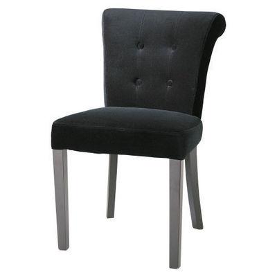 Maisons du monde - Chaise-Maisons du monde-Chaise velours noire Boudoir