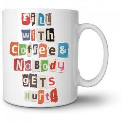 Manta Design - Mug-Manta Design-Mug design personnalisable Lettre anonyme
