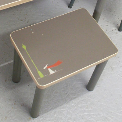 ICI LA TERRE - Table enfant-ICI LA TERRE-Bureau enfant personnalisable, table et tabouret N
