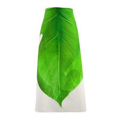 TROIS MAISON - Tablier de cuisine-TROIS MAISON-Tablier de cuisine motif FEUILLE verte