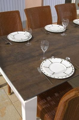 Marbrerie Rouillon - Table de repas rectangulaire-Marbrerie Rouillon-LATITUDE