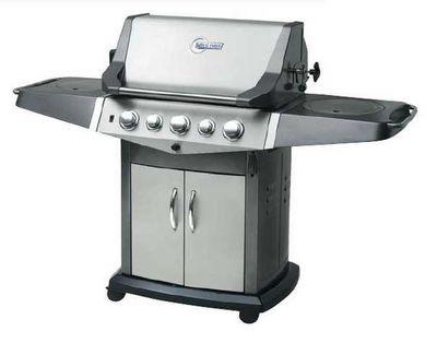 PRIMAGAZ - Barbecue électrique-PRIMAGAZ-Barbecue en inox 5 feux avec rôtissoire