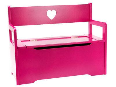 JIP - PAPIRNY VETRNI  A. S. - Coffre à jouets-JIP - PAPIRNY VETRNI  A. S.-Banc coffre à jouets rose en bois 60x46x26cm