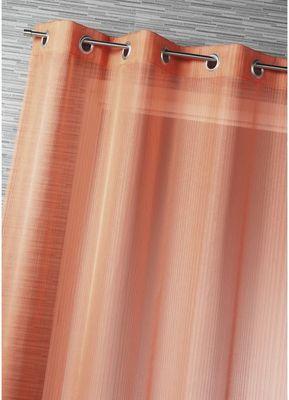 HOMEMAISON.COM - Voilage-HOMEMAISON.COM-Voilage fantaisie tissé fines rayures verticales