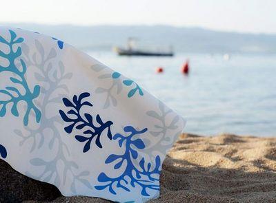 FLEUR DE SOLEIL - Nappe rectangulaire-FLEUR DE SOLEIL-Corail bleu