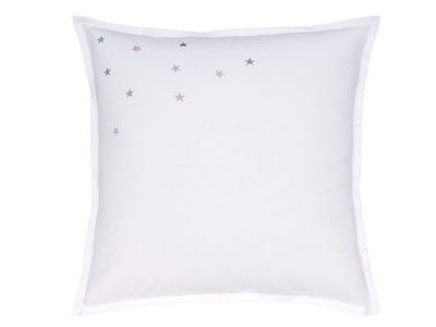 BLANC CERISE - Taie d'oreiller-BLANC CERISE-Taie d'oreiller carrée - percale (80 fils/cm²) -