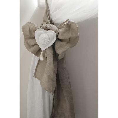 Mathilde M - Embrasse-Mathilde M-2 embrasses lin cur blanc 40 x 260 cm