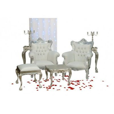 DECO PRIVE - Salon-DECO PRIVE-Decor de henne avec ces Fauteuils argentes et imit