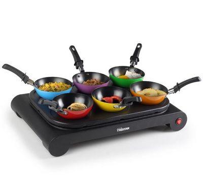 Tristar - Gaufrier électrique-Tristar-BP-2827 - Set wok 6 woks colors - Plaque chauffant