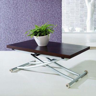 WHITE LABEL - Table basse forme originale-WHITE LABEL-Table basse relevable Noré