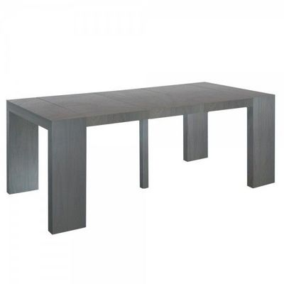 WHITE LABEL - Table de repas rectangulaire-WHITE LABEL-Table console extensible 3 rallonges Shannon