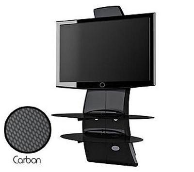 Meliconi - Support d'écran-Meliconi-Meuble TV Ghost Design 2000 noir carbone