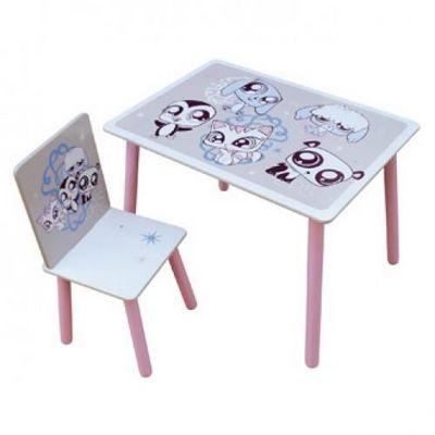 LITTLES PET SHOP - Table enfant-LITTLES PET SHOP-Ensemble table + Chaise LITTLEST PETSHOP