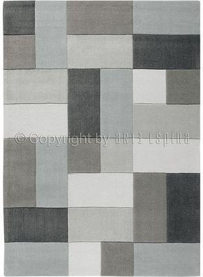 Arte Espina - Tapis contemporain-Arte Espina-Tapis REFLECTIVE 4 gris 200x300 en Acrylique