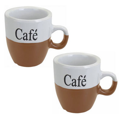WHITE LABEL - Mug-WHITE LABEL-Lot de 2 mugs à café