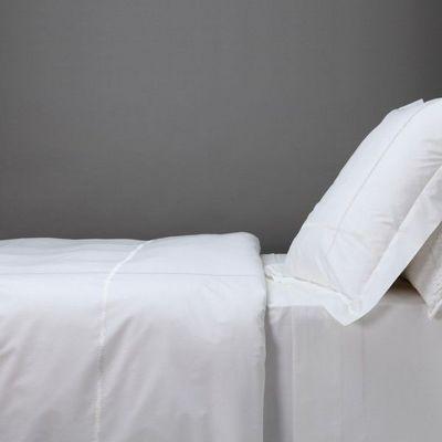 BLANC D'IVOIRE - Parure de lit-BLANC D'IVOIRE-CHARLES - Parure de lit blanc
