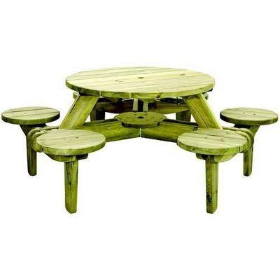 Alexander Rose - Table pique-nique-Alexander Rose-Ensemble pique-nique 6 places en pin fsc