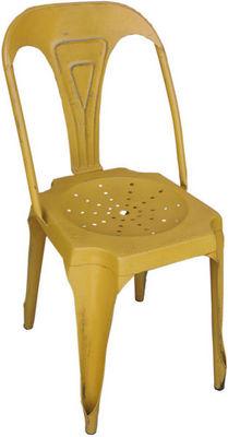 Antic Line Creations - Chaise-Antic Line Creations-Chaise Vintage en métal Jaune