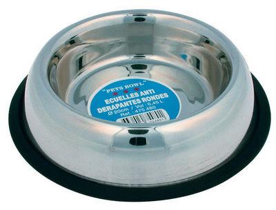 ZOLUX - Gamelle-ZOLUX-Gamelle ronde 20cm antid�rapante en inox 0,45 litr