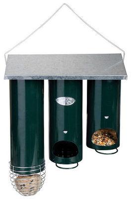 BEST FOR BIRDS - Mangeoire à oiseaux-BEST FOR BIRDS-Distributeur de nourriture orgue en métal 25x11x28