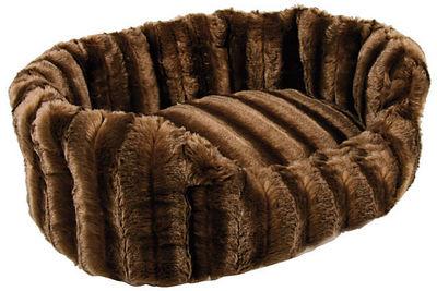 ZOLUX - Panier à chien-ZOLUX-Corbeille warmy marron 50x40x16cm