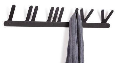 Umbra - Portemanteau-Umbra-Porte manteaux hang five en métal noir 62x9,5cm