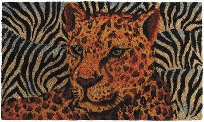 Aubry-Gaspard - Paillasson-Aubry-Gaspard-Paillasson Panthère en Coco et Latex 75x45cm