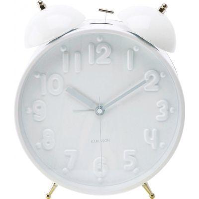 Present Time - Réveil matin-Present Time-Réveil Twin bell nude - Couleur - blanc